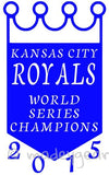 Car Window Vinyl Decal Sticker- Sports 2015 World Series Kansas City Royals