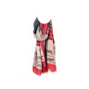 Axelle - Foulard PANTHÈRE rouge - Forever Mlle