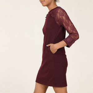 Molly Bracken - Robe ALICIA - Bourgogne - Forever Mlle