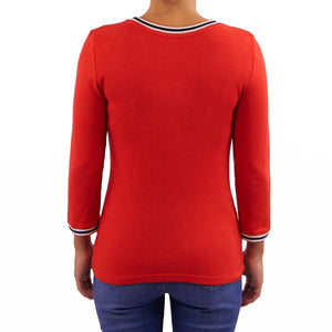 Tom Tailor chandail KEEP IT SIMPLE rouge - Forever Mlle