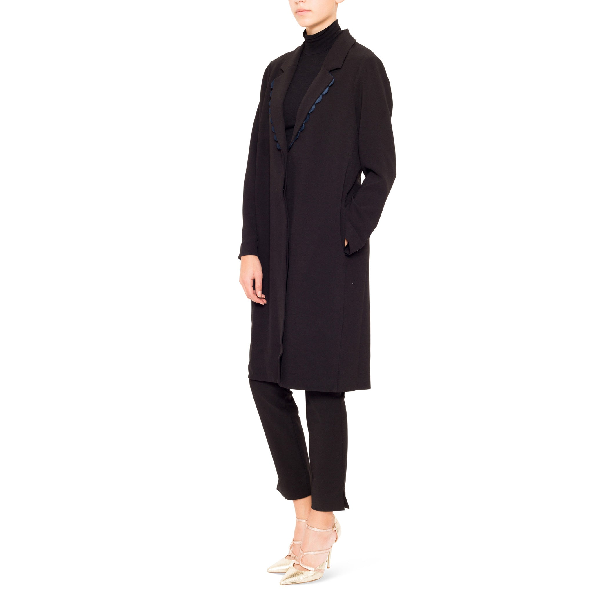Ossie Scalloped Long Coat