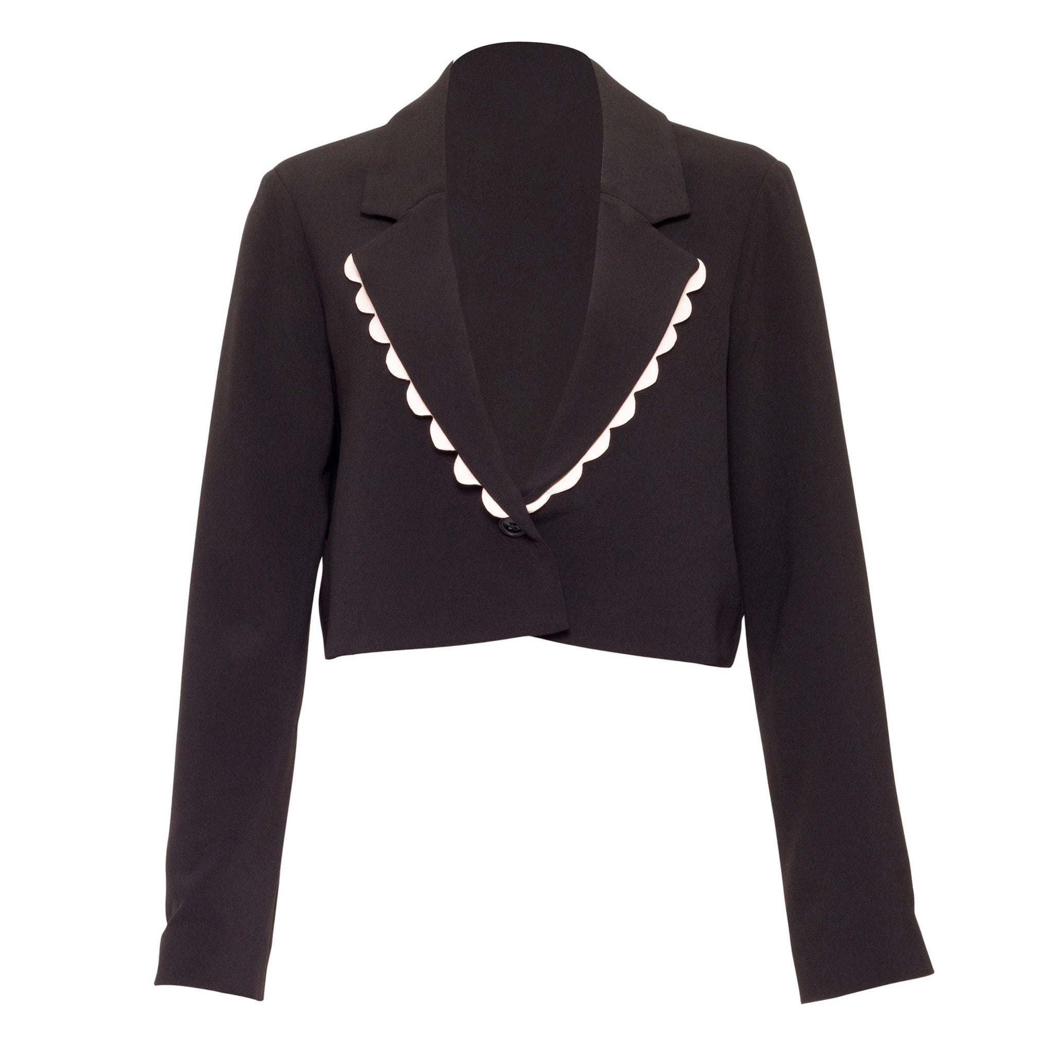 Haddon Scalloped Cropped Jacket