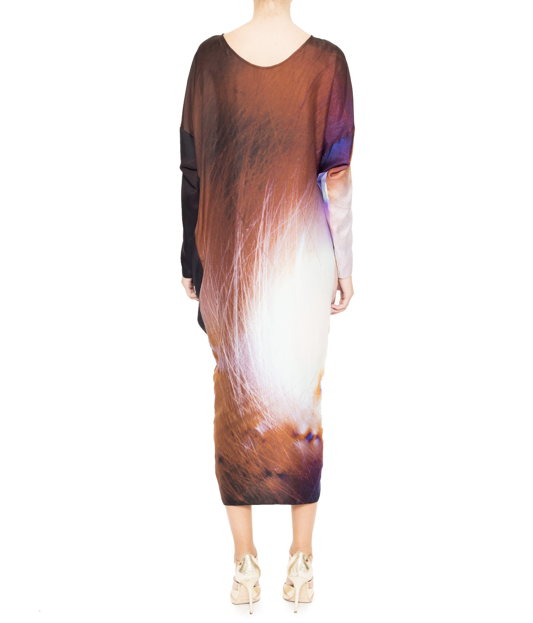 Cocoon Twist Sleeved Dress