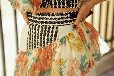 Printed Gown Skirt