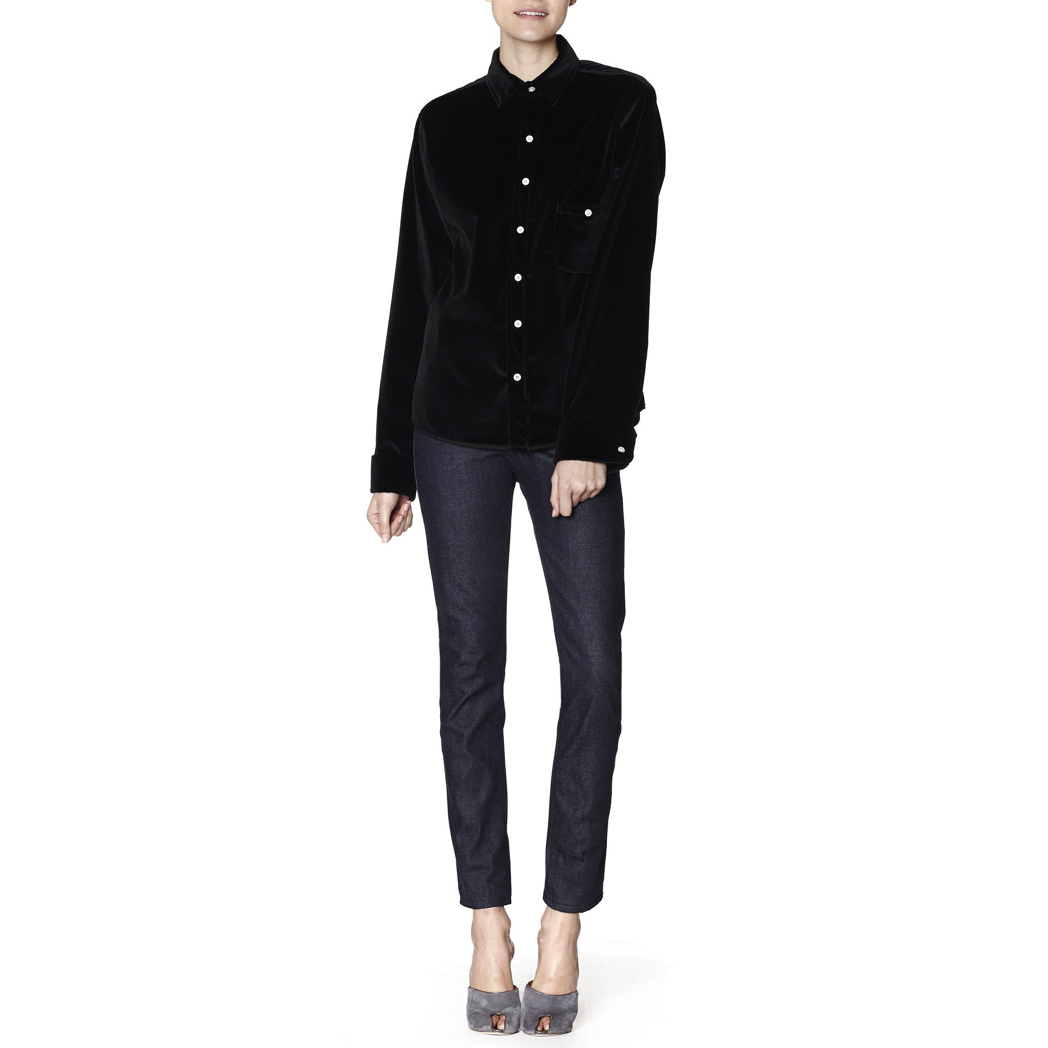 High- Waisted Slim-Fit Selvedge Jean
