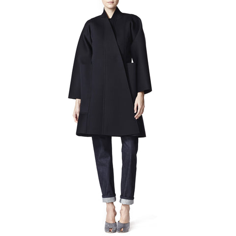 Oversized Articulated Neoprene Coat