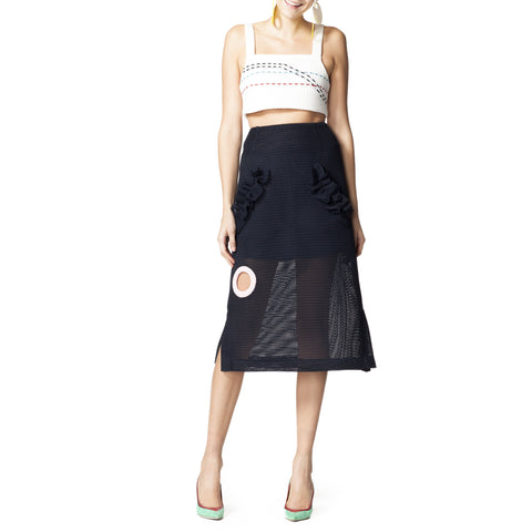 Neoprene Midi Skirt