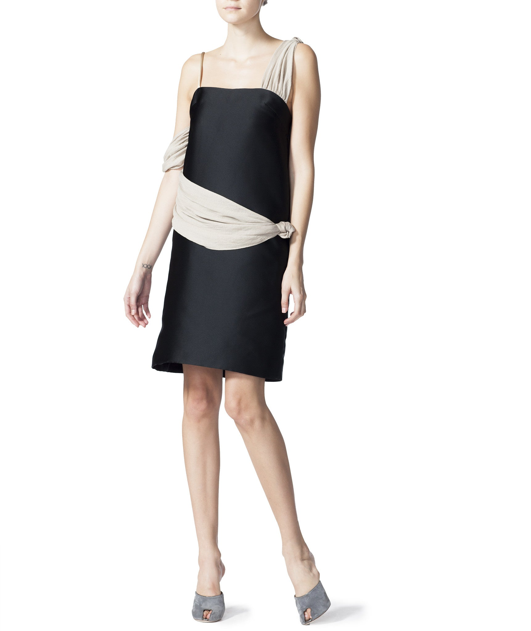Tied Layer Tube Dress