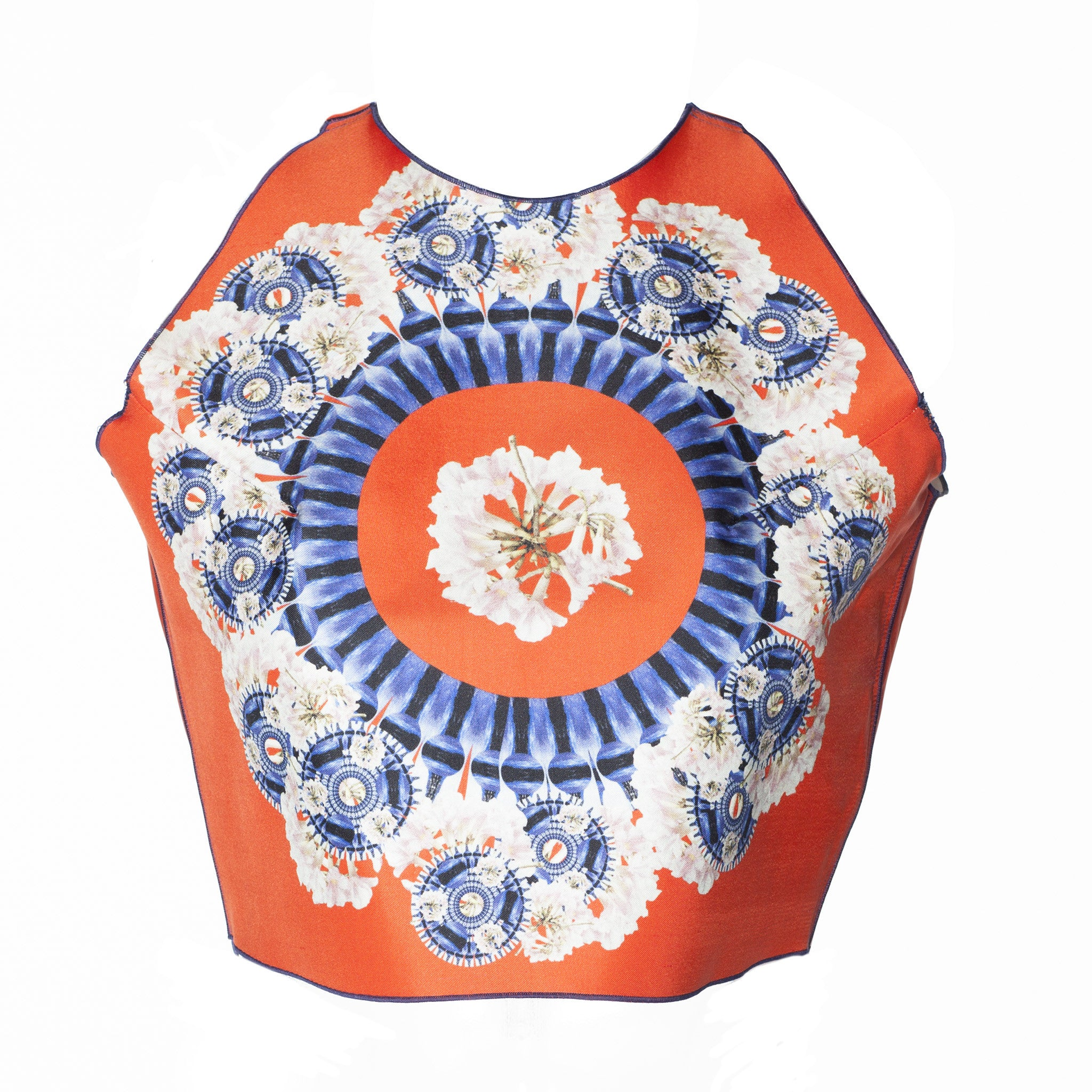 Printed Floral Crop Top
