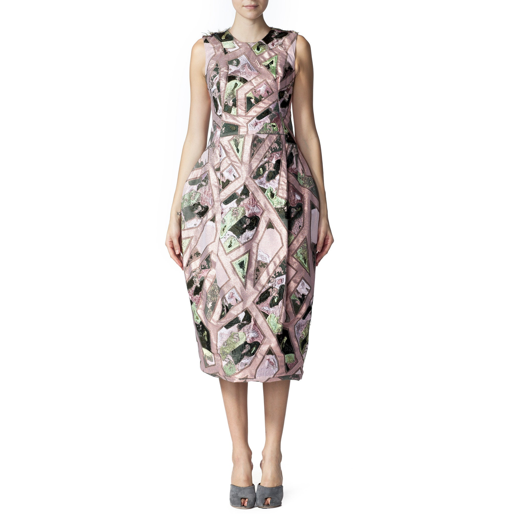 Julliard Embellished Jacquard Dress