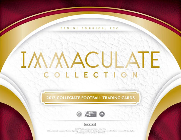 2017 Immaculate Collegiate Football Full 5 Box Case *Pick Your Team* Break #2 (TEXANS Randomed To Someone In Break)(Releases 7/26)