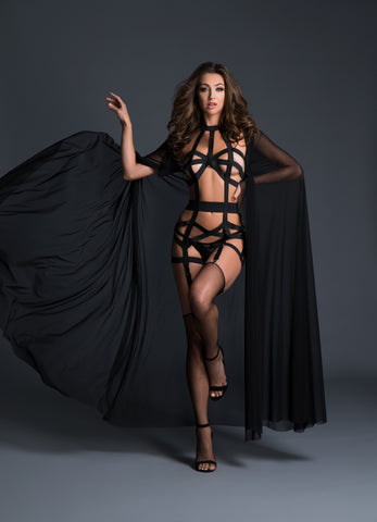 Deliciously playful corselette with garters - Bokeelia Boutique