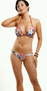 Nicolita Swimwear Old Cuban Stamp Bikini Top - Bokeelia Boutique