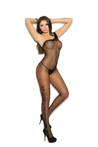 Floral Scroll bodystocking - Bokeelia Boutique