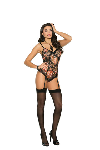 COLORFUL FLORAL LACE TEDDY