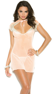 Peach and Cream Chemise Set