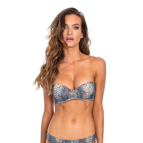 Mermaid Print Bikini Top - Bokeelia Boutique