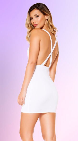 CRISS-CROSS COWL NECK DRESS - Bokeelia Boutique