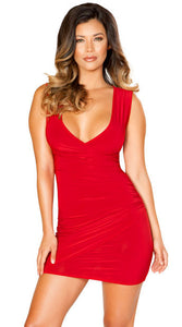 SCARLET SIREN MINI DRESS