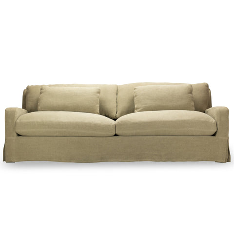 Hampton Slip Covered Sofa In Natural By Spectra Home