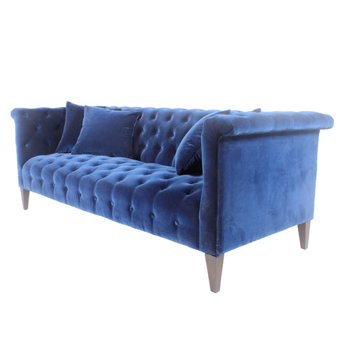Marco Sofa   Navy Blue Velvet