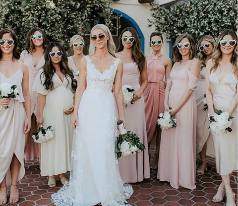 103de668005d We re loving the coral vibes from this insanely stylish bridal party