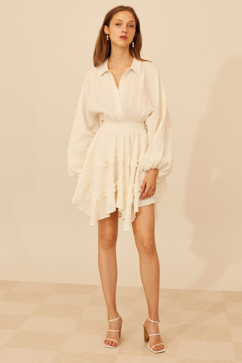 Distinct Mini Dress Ivory
