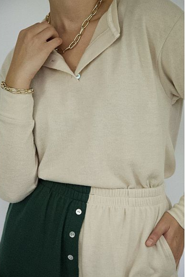 Sweater Henley Creme