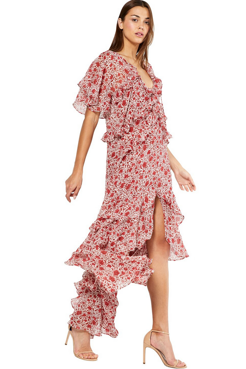 Katarina Dress Rust Animal Floral