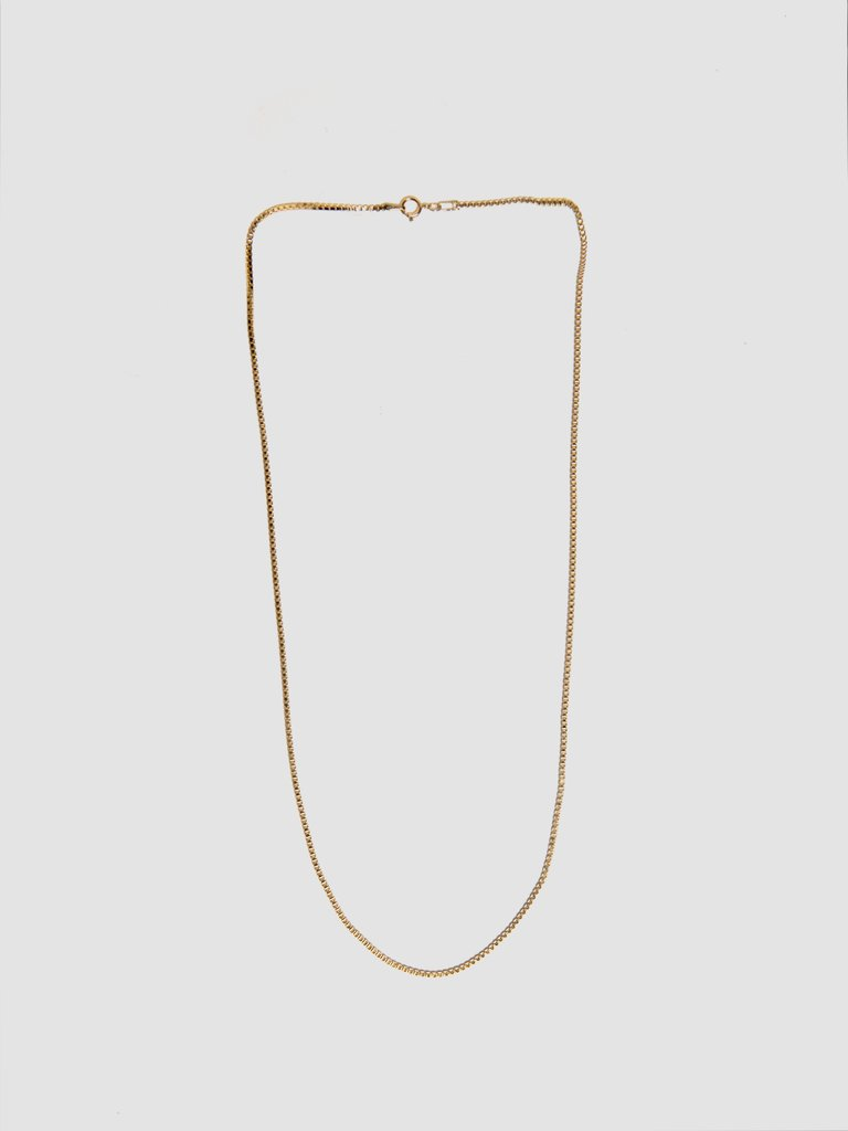 Box Chain Gold Necklace