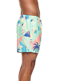 Overlay Mid Length Swim Shorts
