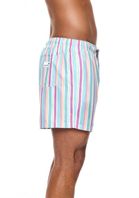 Rock Stripe Mid Length Swim Shorts