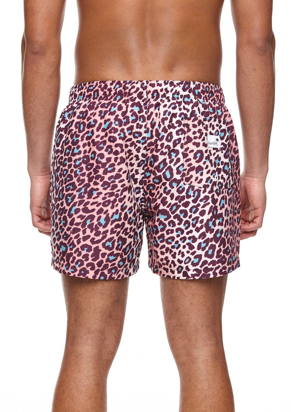Leopard Mid Length Swim Shorts