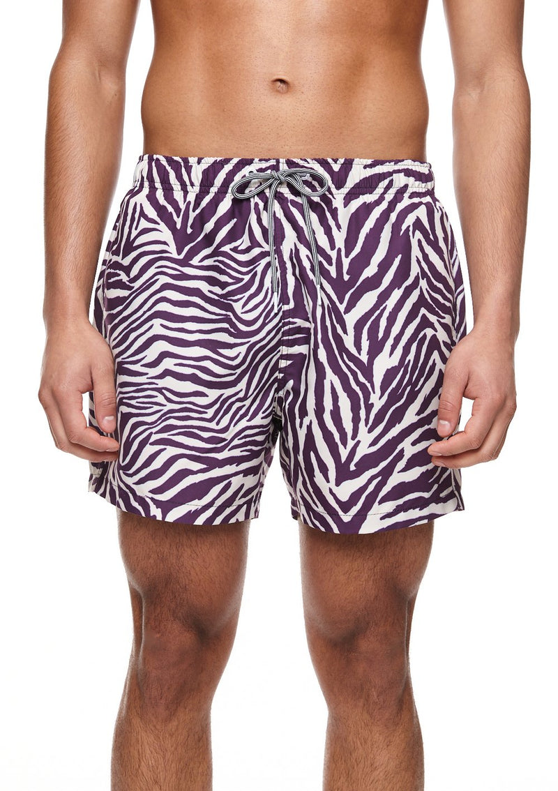 Zebra Mid Length Swim Shorts