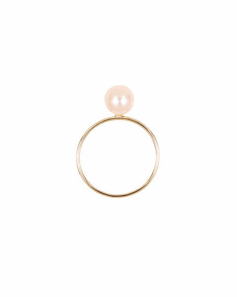 Gypsy Ring Peach Pearl