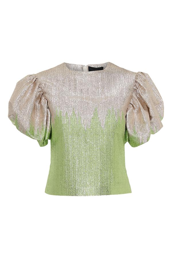 Addison Blouse Green Glitter