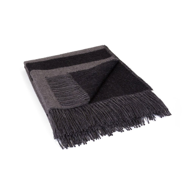 Rattlesnake Reversible Throw | Charcoal