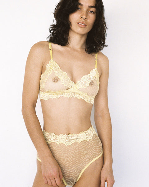 Bonnie Hi Waist Brief Lemon
