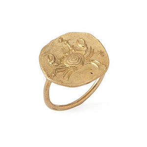 Cancer Ring 18K Gold