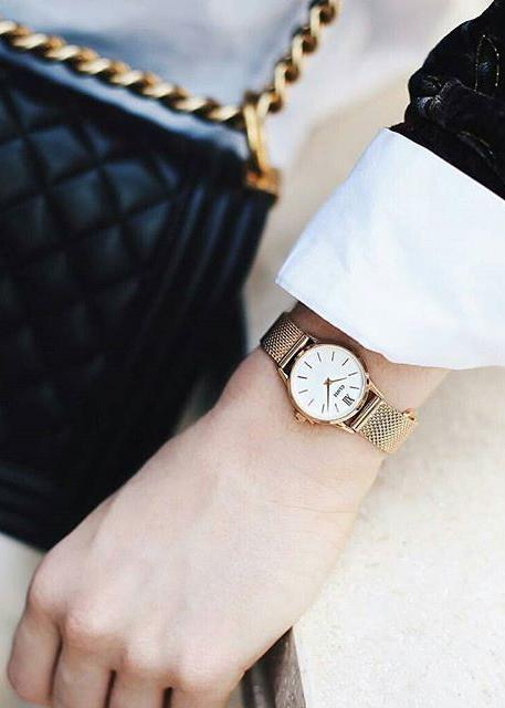 La Vedette Gold/White Watch