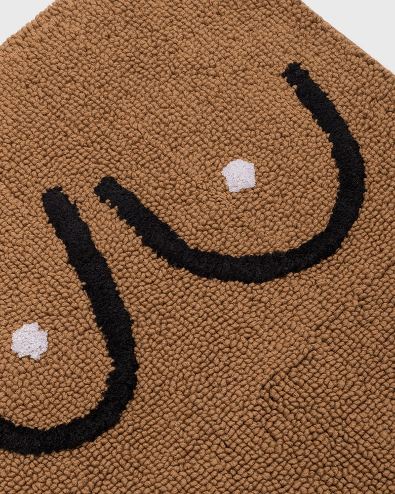 Boobs Bathmat Brown