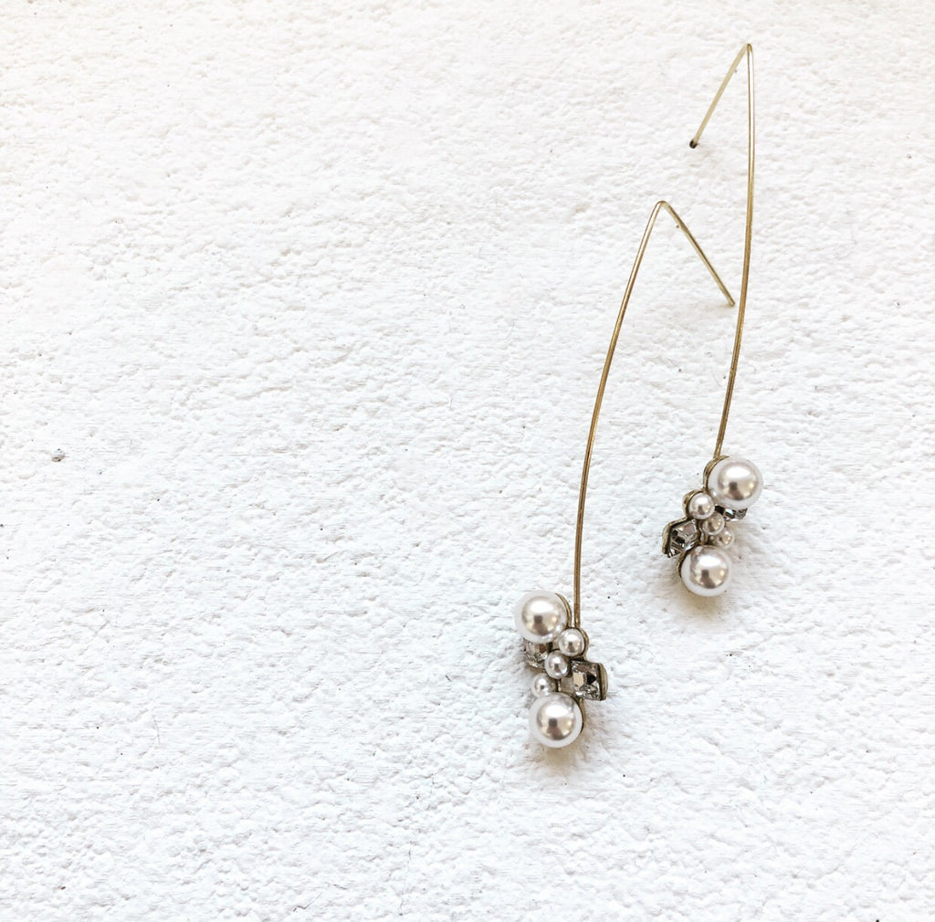 Deco Stem Drop Earring