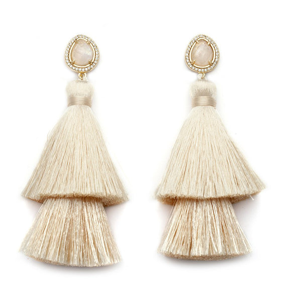 Monopoli Double Tassel Earrings