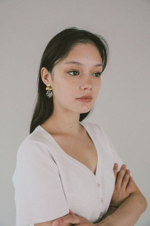 Ash Clear Gold Earrings