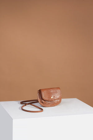 Brigitte Belt Bag Antique Tan Lizard