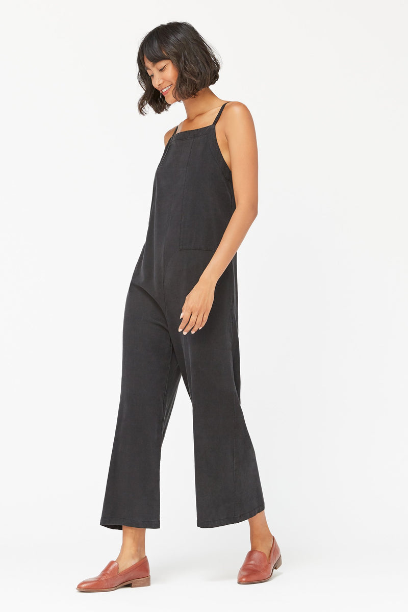 Silk Brooks Jumpsuit Tar