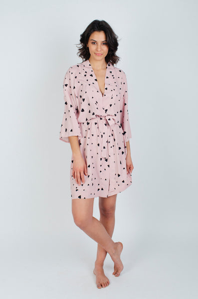 Pink Heart Robe
