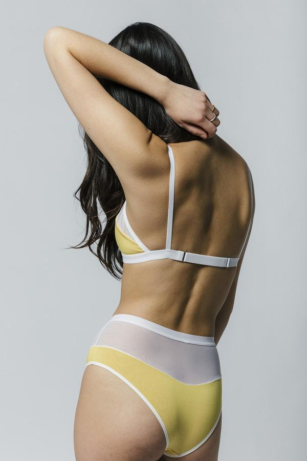 Logan High cut Bikini Yellow