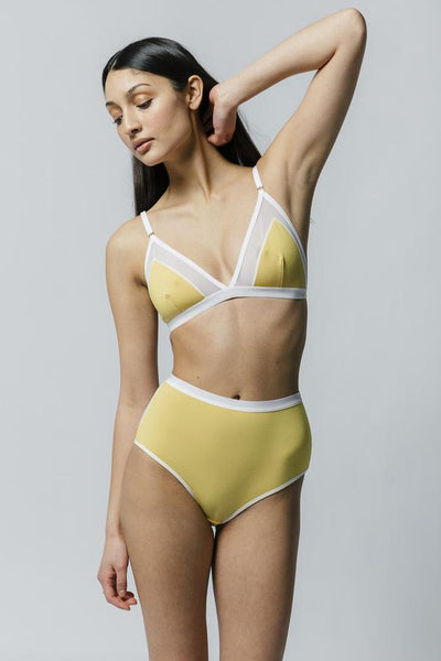 Contrast Bra Yellow