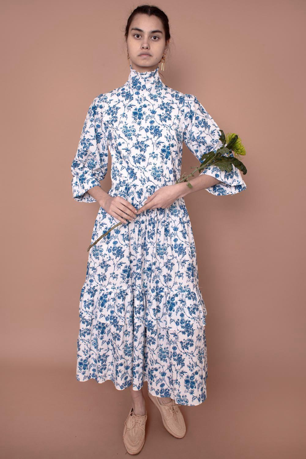 Clematis Dress Blue Floral